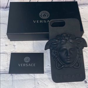 VERSACE Black Silicone IPhone Case